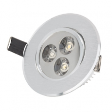 LED bodovka do sádrokartonu GU10 3W 230V 3000K EEHO-LEDDOWN-3W-WW